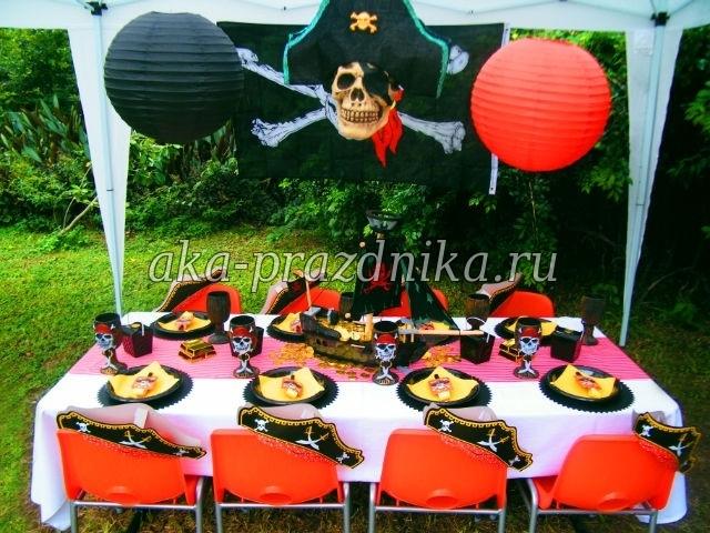 Пиратская вечеринка оформление